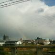 雪の前日の虹